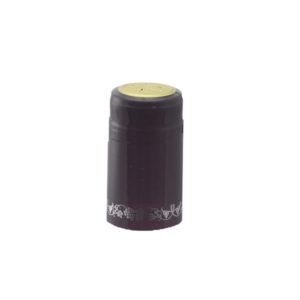 PVC Shrink Caps - Black/Silver 30/pack