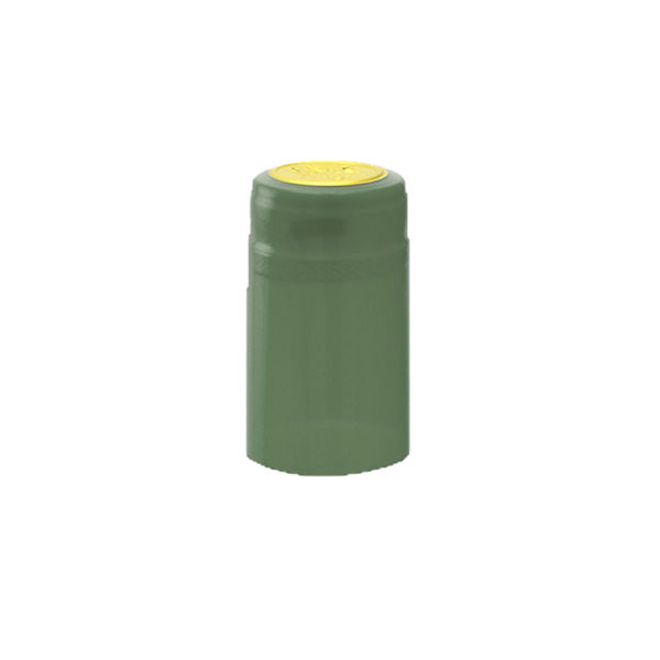 PVC Shrink Caps - Metallic Green 30/pack