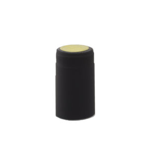 PVC Shrink Caps - Black 30/pack