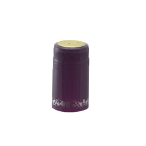 PVC Shrink Caps - Purple/Silver 30/pack