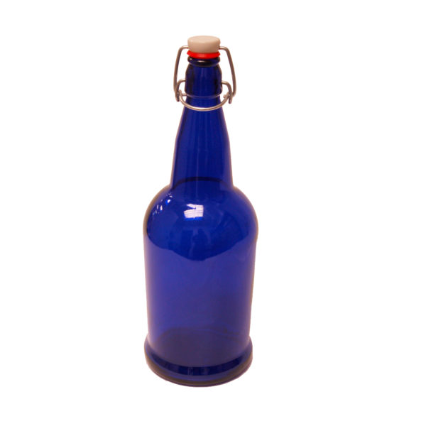 EZ Cap Bottles - Blue 1 Liter12/case