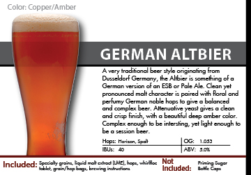 SCBS Altbier Ale Recipe Kit
