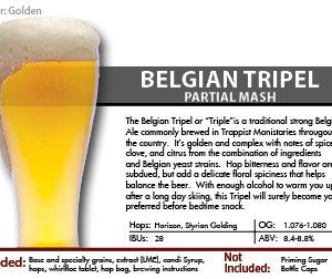 SCBS Belgian Tripel Recipe Kit