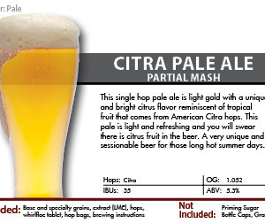SCBS Citra Pale Partial Mash Kit