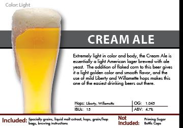 SCBS Cream Ale Recipe Kit