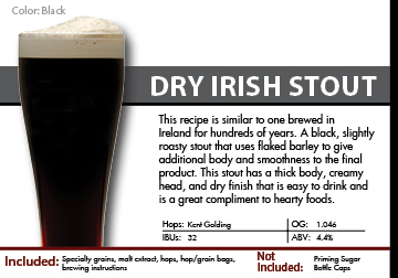 SCBS Dry Irish Stout Recipe Kit
