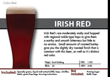 SCBS Irish Red Recipe Kit