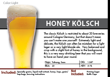 SCBS Honey Kolsch Recipe Kit