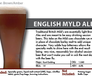SCBS Myld Ale Recipe Kit