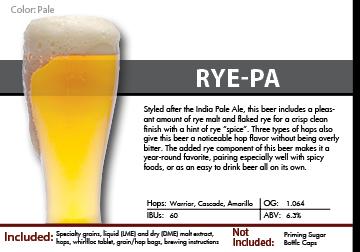 SCBS RyePA Recipe Kit