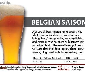 SCBS Saison Recipe Kit
