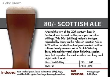 SCBS Scottish 80 shilling Recipe Kit