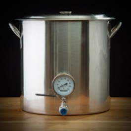 32 Quart Kettle w/ Thermometer and Ball Valve