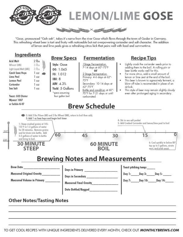 Gose Recipe Instructions