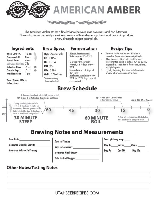 Amber Ale Recipe