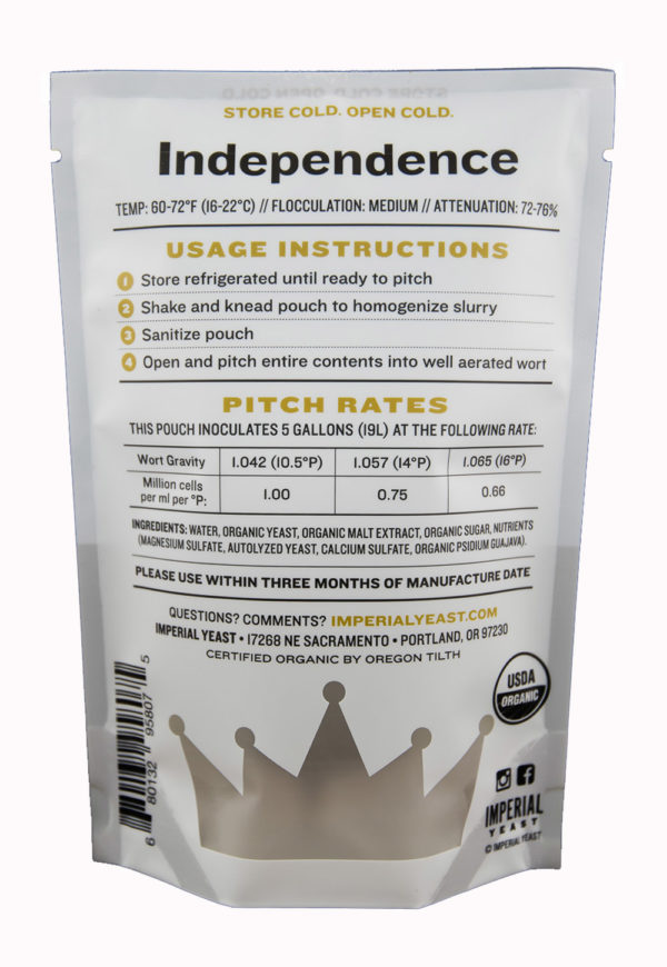Independence - Imperial Yeast A15