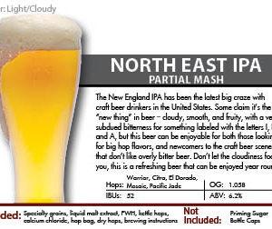 SCBS North East IPA Recipe Kit